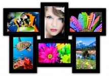 купить Пластиковая Мультирамка Классика на 6 фото (Black) цена, отзывы