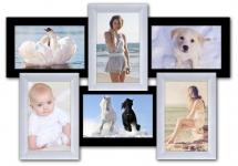 купить Пластиковая Мультирамка Классика на 6 фото (Черно-Белый) цена, отзывы
