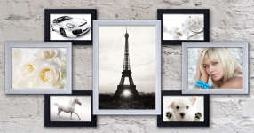 купить Пластиковая Мультирамка Семь желаний на 7 фото (Черно-Белый) цена, отзывы