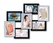 купить Пластиковая Мультирамка Семь чудес на 7 фото (Черно-Белый) цена, отзывы