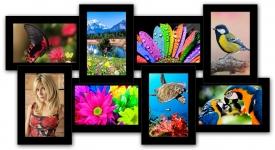 купить Пластиковая Мультирамка История на 8 фото (Black) цена, отзывы