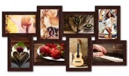 купить Пластиковая Мультирамка История на 8 фото (Венге) цена, отзывы