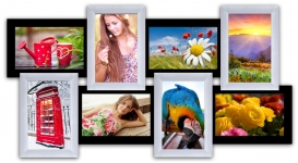 купить Пластиковая Мультирамка История на 8 фото (Черно-Белый) цена, отзывы