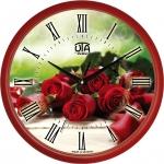 купить Настенные Часы Сlassic Букет красных роз Red цена, отзывы