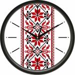 купить Настенные Часы Сlassic Элемент Вышиванки Black цена, отзывы