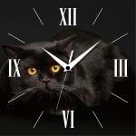 купить Настенные Часы Panorama Черный Кот цена, отзывы
