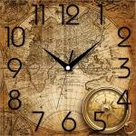 купить Настенные Часы Panorama Карта и Компас цена, отзывы