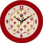 купить Настенные Часы Fashion Влюбленные Сердца Red цена, отзывы