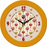 купить Настенные Часы Fashion Влюбленные Сердца Yellow цена, отзывы