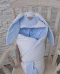 купить Конверт одеяло на выписку Мамина Зайка Blue цена, отзывы