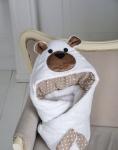купить Конверт одеяло на выписку Мишка White цена, отзывы
