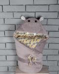 купить Конверт одеяло на выписку Бегемотик Мота Мота цена, отзывы