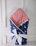 купить Конверт одеяло на выписку Морской Демисезон цена, отзывы
