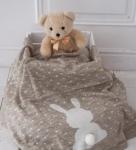 купить Вязаный плед для новорожденных Ушастый Мишка цена, отзывы