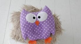 купить Детская подушка игрушка для новорожденных Совушка Purpule цена, отзывы