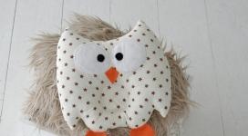 купить Детская подушка игрушка для новорожденных Совушка Звездочки цена, отзывы