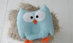 купить Детская подушка игрушка для новорожденных Совушка Blue цена, отзывы