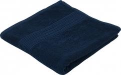 купить Махровое полотенце темно синее гладкокрашеное 50х90 цена, отзывы