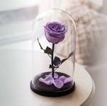 купить Роза в Колбе Сиреневый Жемчуг 5 карат цена, отзывы