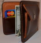 фото 1567  Зажим для денег с кармашеком для мелочи натуральная кожа №3 цена, отзывы
