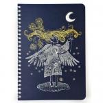 купить Скетчбук Crazy Sketches - Серебряная ниточка на пружине, синие листы цена, отзывы