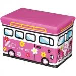 купить Пуф складной розовый Love bus цена, отзывы