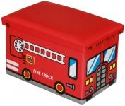купить Пуф детский складной Пожарная машина цена, отзывы