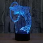 купить 3D ночник Дельфин цена, отзывы