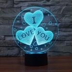 купить 3D ночник I love you цена, отзывы