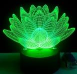 купить 3D ночник Лотос цена, отзывы