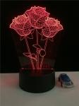 купить 3D ночник Розы цена, отзывы