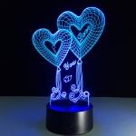купить 3D ночник Два Сердца цена, отзывы