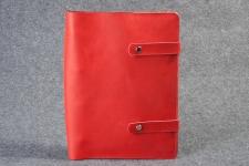 купить Кожаная папка скоросшиватель для документов Red цена, отзывы