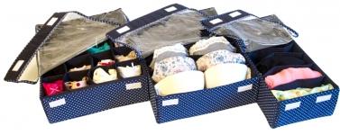купить Комплект Органайзеров для белья с крышкой Звездное Небо 3 шт. цена, отзывы