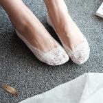 купить Кружевные тапочки-носочки белые цена, отзывы