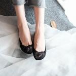купить Кружевные тапочки-носочки черные цена, отзывы