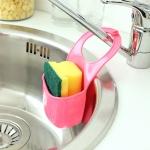 купить Подвесной органайзер для кухонных принадлежностей розовый цена, отзывы