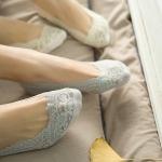 купить Кружевные тапочки-носочки серые цена, отзывы