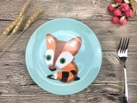 купить Детская тарелочка Striped fox цена, отзывы