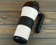 купить Термокружка Starbucks Grip Handle White 473 мл цена, отзывы