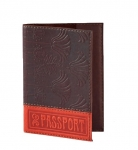 купить Кожаная Обложка на паспорт Красная Полосочка цена, отзывы