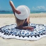 купить Пляжный коврик Mandala black blue 140см цена, отзывы