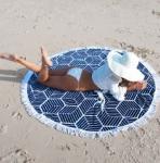 купить Пляжный коврик Mandala dark blue 140см УЦЕНКА цена, отзывы