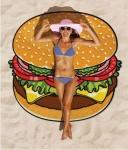 купить Пляжный коврик Hamburger 143см цена, отзывы