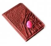 купить Кожаная Обложка на паспорт с камнем Агат цена, отзывы
