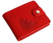 купить Женский Кожаный кошелек Красная Бабочка цена, отзывы