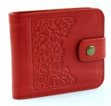 купить Женский Кожаный кошелек Красные Цветы цена, отзывы