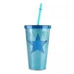 купить Стакан с крышкой и трубочкой Blue Star цена, отзывы