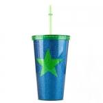 купить Стакан с крышкой и трубочкой Green star цена, отзывы