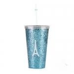 купить Стакан с крышкой и трубочкой Eiffel Tower Blue цена, отзывы